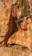 Rock Climbing Photo: Cruising the crux boulder problem Claim Jumper (5....