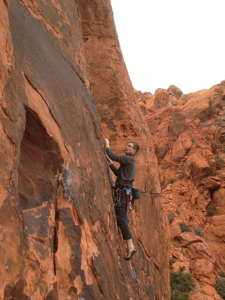 Rock Climbing Photo: Calico Basin area. Forgot the route name unfortuna...