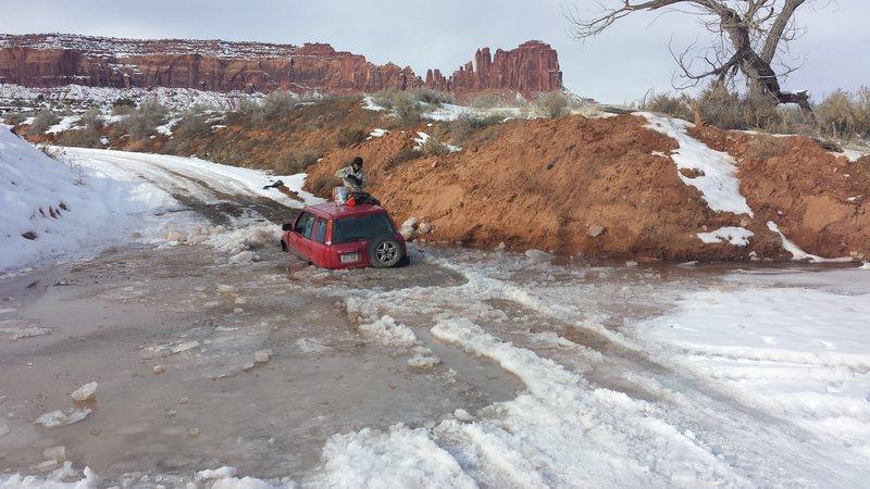 The Creek running a bit high