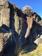 Rock Climbing Photo: Culture Of Silence, Layback crack, Pharaoh, Dihedr...