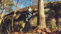 Rock Climbing Photo: Making my way up Mulva
