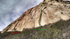 Rock Climbing Photo: Here is a rough reference to the location of the c...
