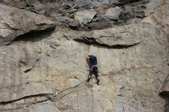 Rock Climbing Photo: just below the double anchors.