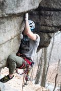 Rock Climbing Photo: Some serious repetitive jamming and scumming on th...