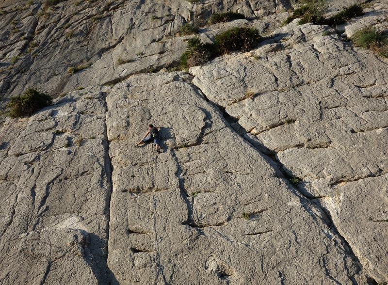Rock Climbing Photo: Slabby face climbing