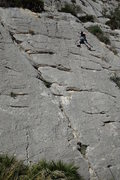 Rock Climbing Photo: Just below the anchor