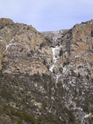 Rock Climbing Photo: Sandia ice? South Peak Smear, one of two known sit...