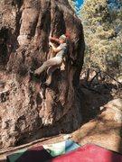 Rock Climbing Photo: Luke Kretchmar trying hard on Punks In The Park