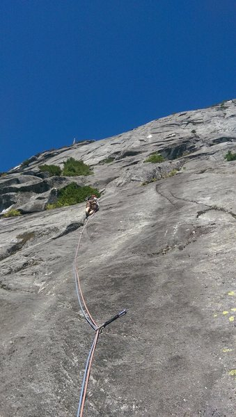 Rock Climbing Photo: Starting up the first pitch.