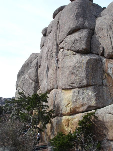 Rock Climbing Photo: Fred crushing. Karl Bird Crack was taken so this w...