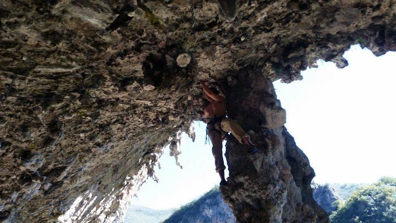 Ceslo Pina, 5.12c, Cueva de la Cumbia