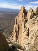 Rock Climbing Photo: The middle section of Broken Rib, as viewed from h...
