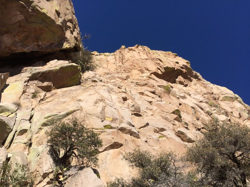 Rock Climbing Photo: An interesting section of the south wall of the Lo...