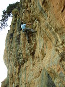 Rock Climbing Photo: Bernde cruising up the overhanging section of Lige...