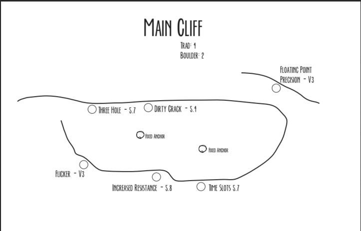 Parker Mountain Main Cliff Map