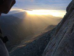 Rock Climbing Photo: Epic Sunset