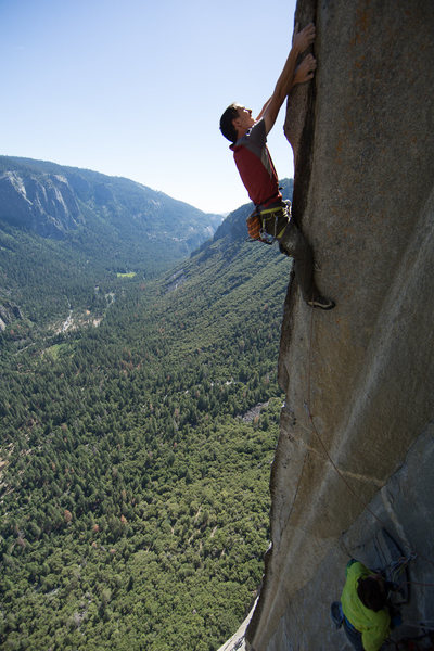 The crux Arete. Usually wet. photo by Ben Ditto