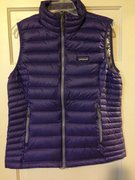 Women's 800 Fill Down Sweater Vest. Size Large in Concord Purple. Brand New. $100 buyer pays shipping.