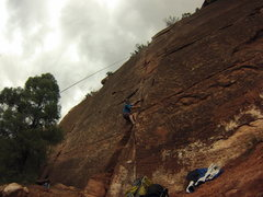 Rock Climbing Photo: battling the crack