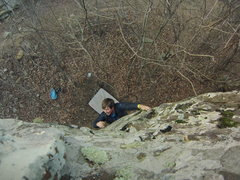 Rock Climbing Photo: halfways up the cheese