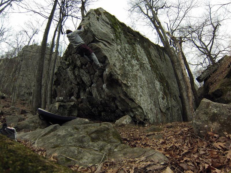 Rock Climbing Photo: up quiet time