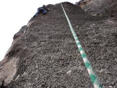 Rock Climbing Photo: up the yellow knight