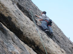 Rock Climbing Photo: just pass the roof