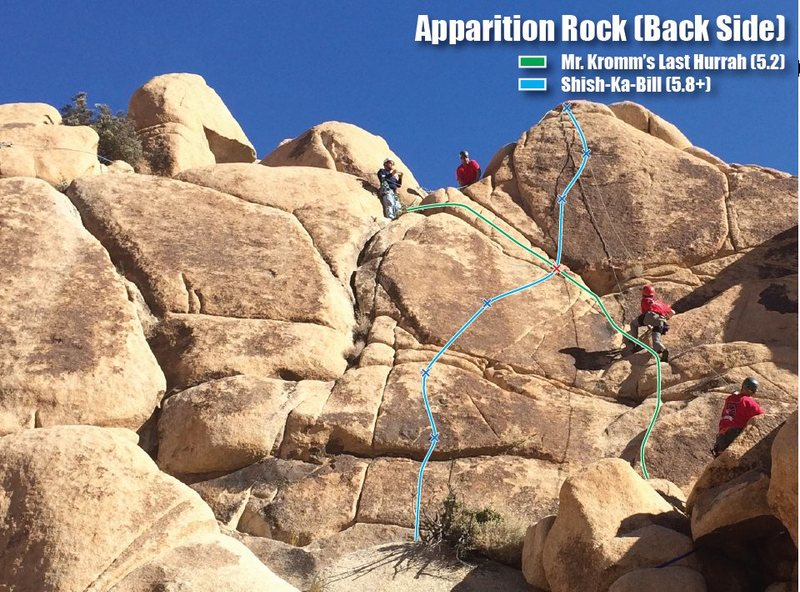 Rock Climbing Photo: Preliminary route map for right side of Apparition...