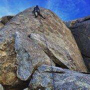 Rock Climbing Photo: The climb gradually moves rightward as it ascends ...
