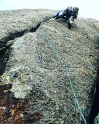 Rock Climbing Photo: Fun crack above that is worth the trouble getting ...