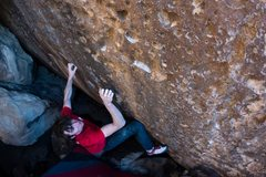 Rock Climbing Photo: After the first two moves the difficulty eases a b...
