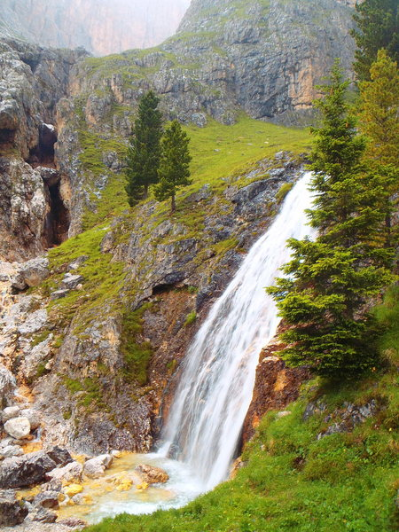 Waterfall on the hike down.