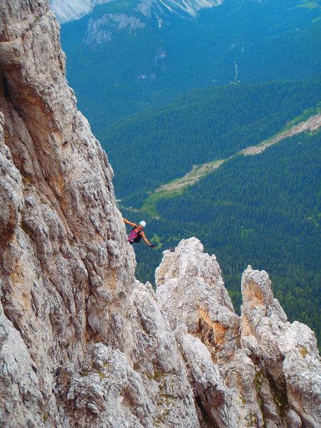 Tofana di Mezzo / Punta Anna - steep Ferrata climbing