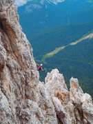 Rock Climbing Photo: Tofana di Mezzo / Punta Anna - steep Ferrata climb...