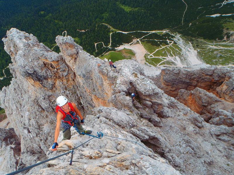 Climb the skinny arete