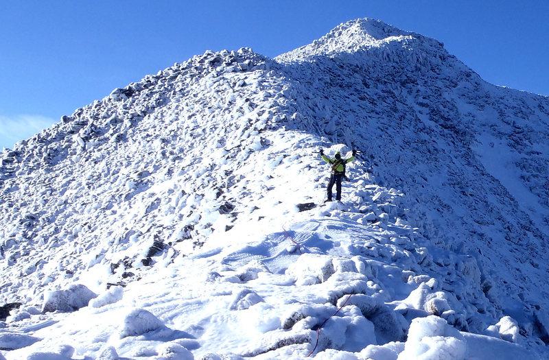 Rock Climbing Photo: Descending Knife Edge