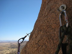 Rock Climbing Photo: anchor above chimney pitch