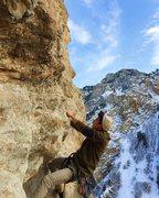 "Rock Climbing Photo: Start of ""Dude, It's Classic"""