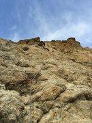 "Rock Climbing Photo: Jack heading up ""Chillax"""