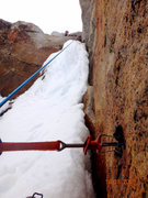 Rock Climbing Photo: the dodgy ice section that required a funky and de...