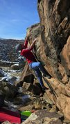 Rock Climbing Photo: At the lip of Assume The Position.