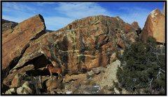 Rock Climbing Photo: Assume The Position problem beta.