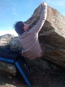 Rock Climbing Photo: sticking the lip move