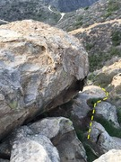 Rock Climbing Photo: The trail down the right side of the crag that tak...
