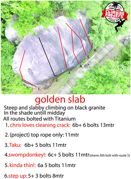 Rock Climbing Photo: photo of all golden slab