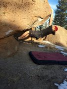 Rock Climbing Photo: Big jug at hand, easy moves up and over the lip fo...
