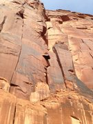 Rock Climbing Photo: The shallow corner/splitter on the left is Unnamed...