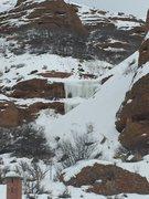 Rock Climbing Photo: Tombstone falls 1.24.16