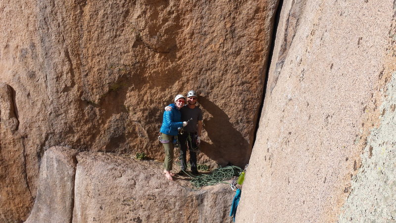 Rock Climbing Photo: Center Route on Cynical Pinnacle with Mike C. Janu...