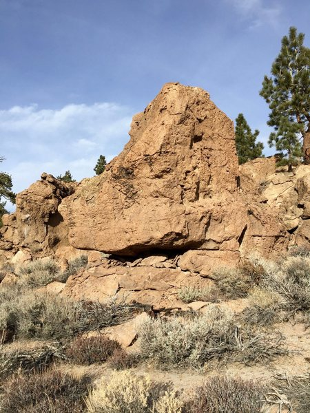 South face of the Cactus Boulder